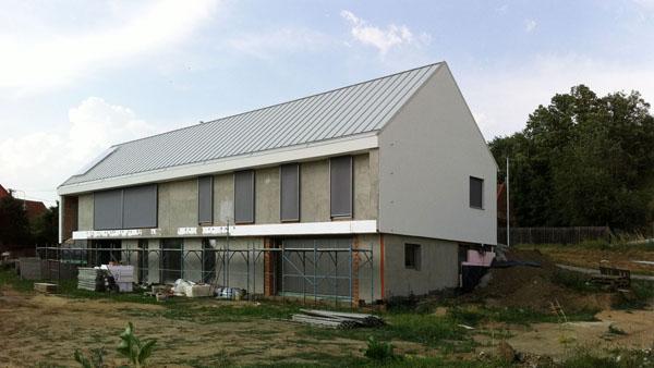 Dokončena fasáda rodinného domu v Drslavicích u Uherského Brodu