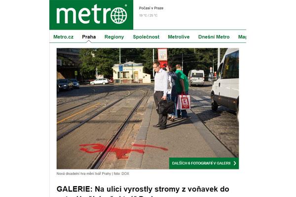 Deník metro k workshopu Proti Městu