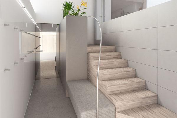 Návrh interiéru bytu v přízemí vily v Pozlovicích