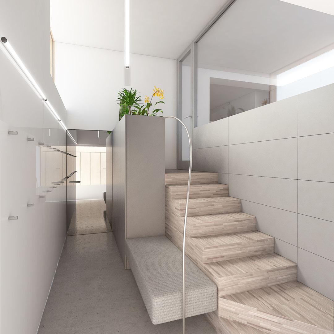 Vizualizace vstupní haly bytu
