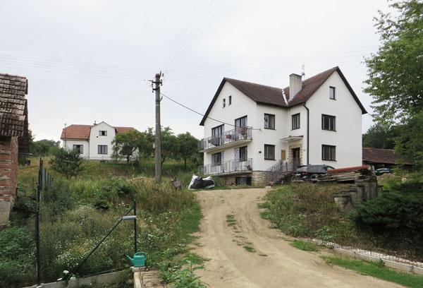 Stávající stav domu z přelomu 80. a 90. let 20. století - Pozlovice