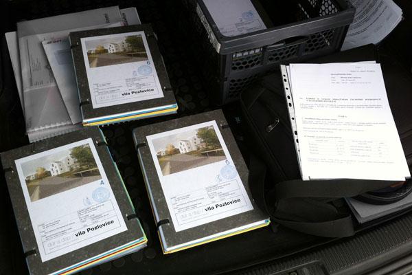 Dokumentace pro stavební řízení na projekt stavebních úprav vily v Pozlovicích