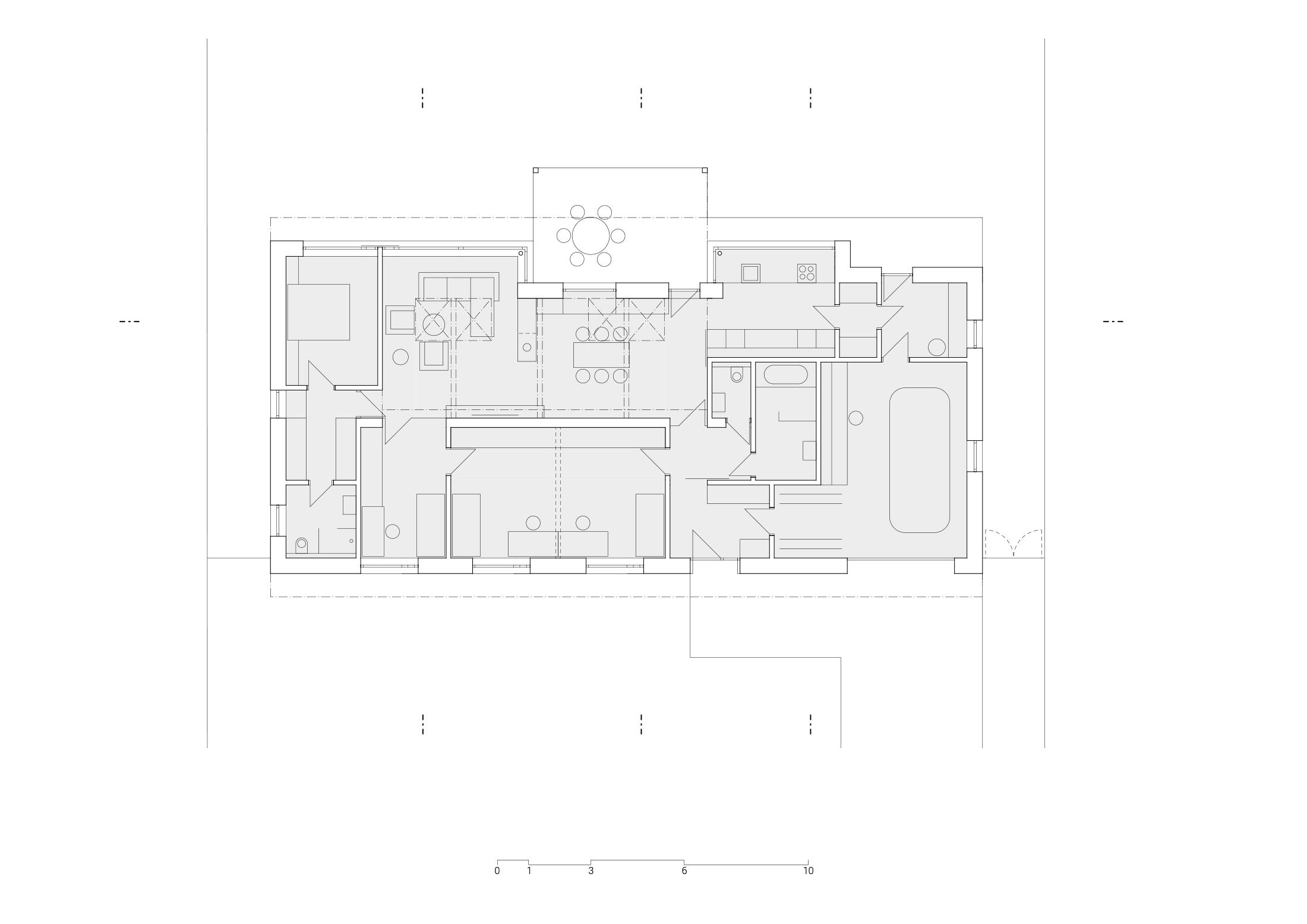Půdorys dipozice domu v Nivnici