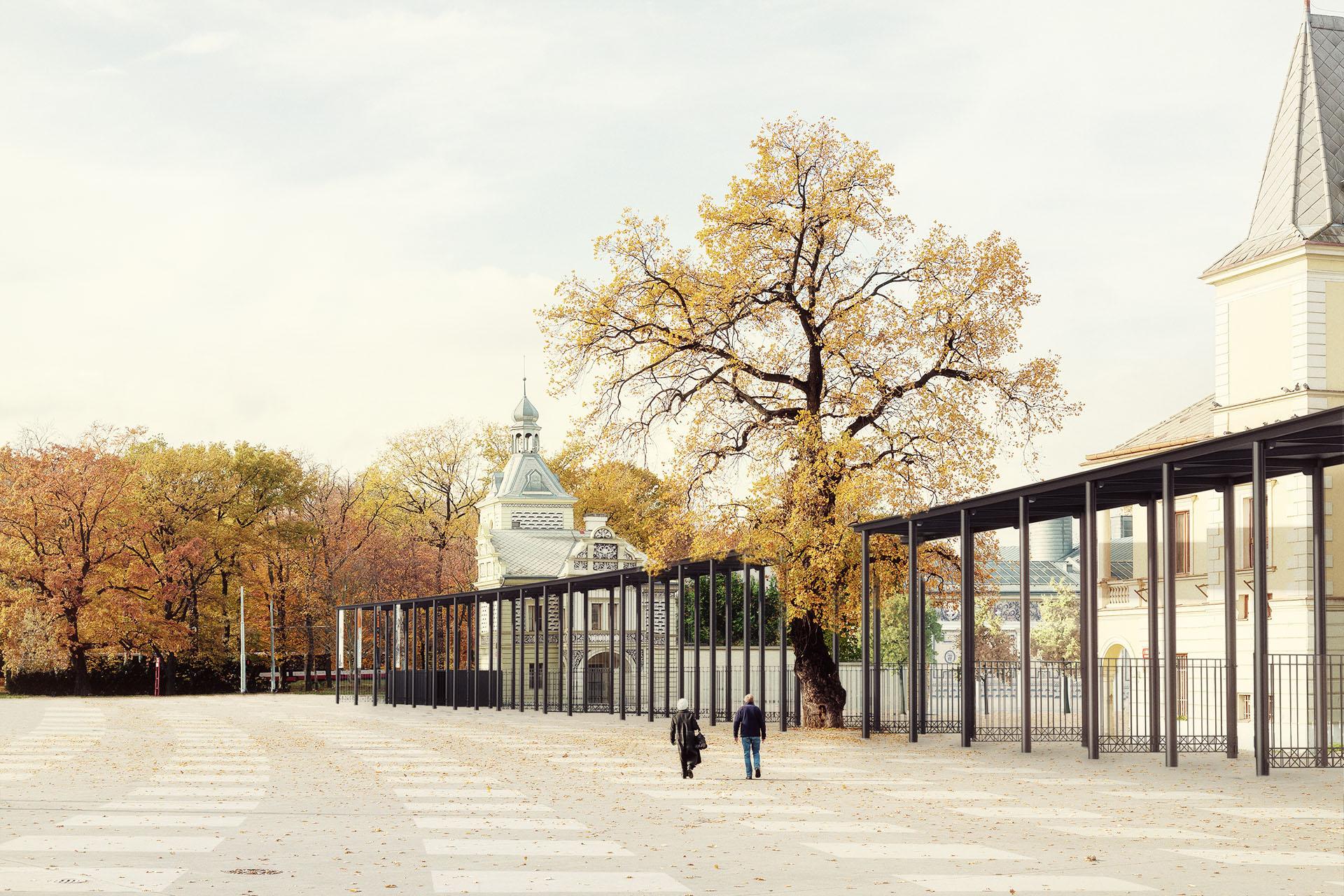 Návrh vstupní brány na výstaviště Praha Holešovice