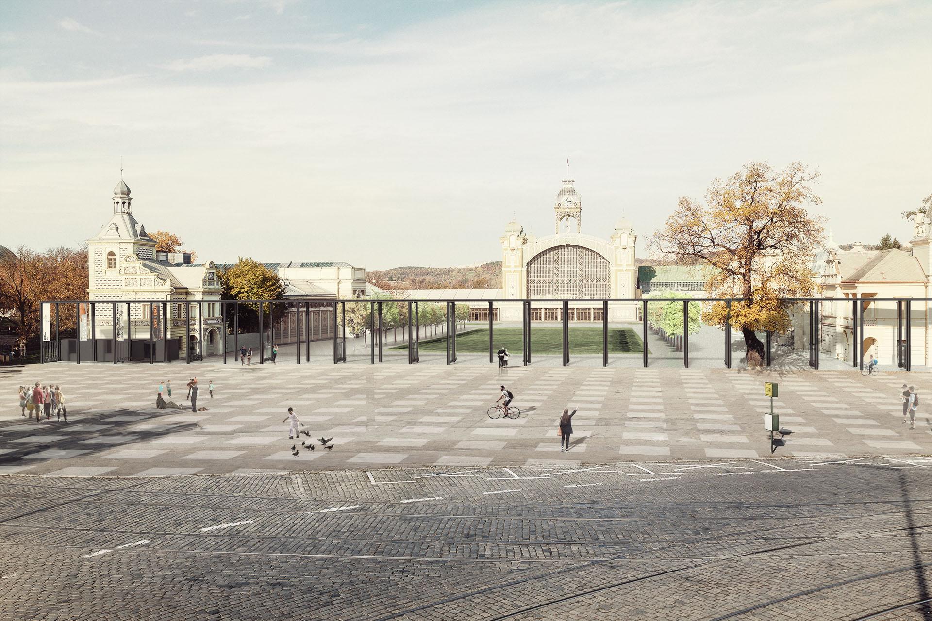 Vstupní brána výstaviště Praha Holešovice