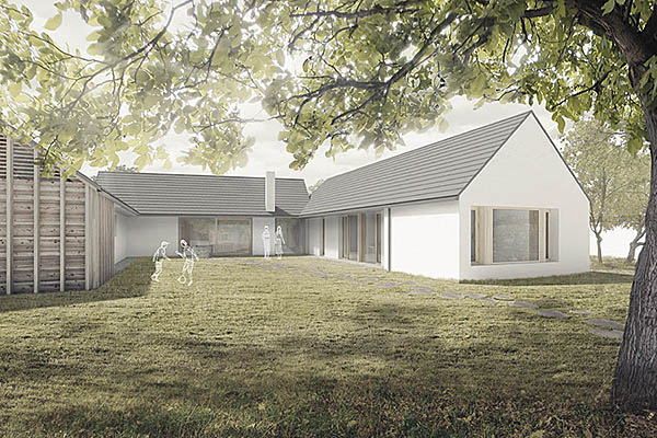 Architektonická studie na venkovský rodinný dům ve Slavkově