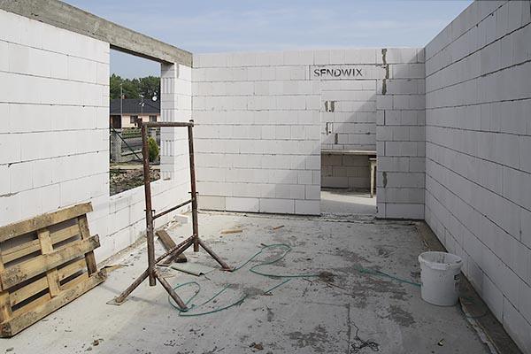 Rodinný dům Nivnice - stavba zdí