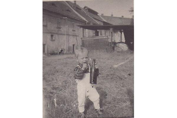 Klášterní pivovar v Oseku - historická fotografie 1950