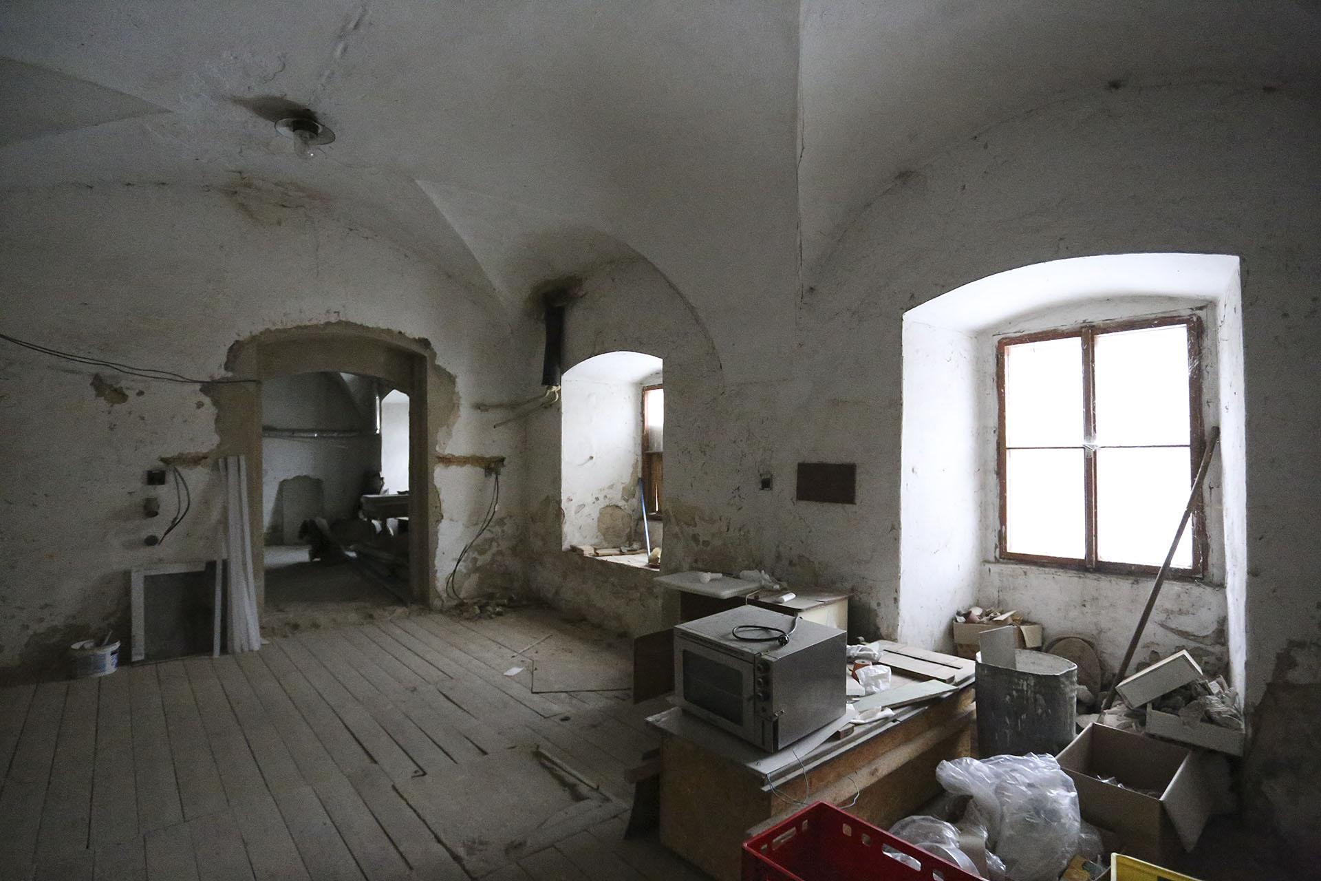 Klášterní pivovar v Oseku - prostor budoucí kuchyně