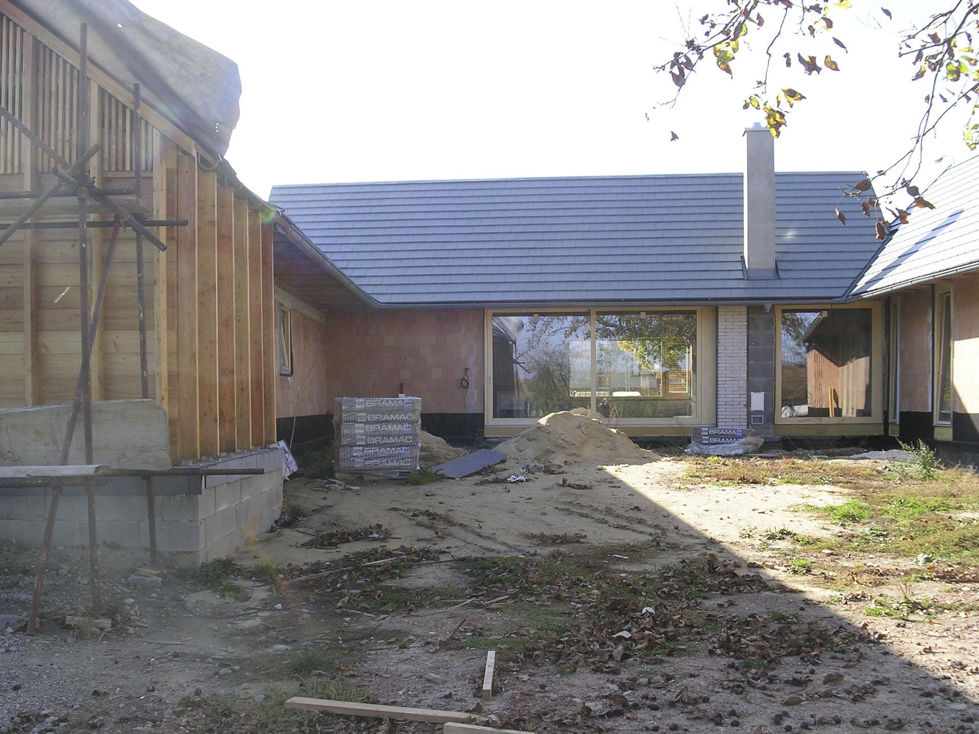 Soukromý dvůr rodinného domu ve Slavkově