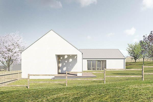 projekt rodinného domu Lhotka u Uherského Brodu